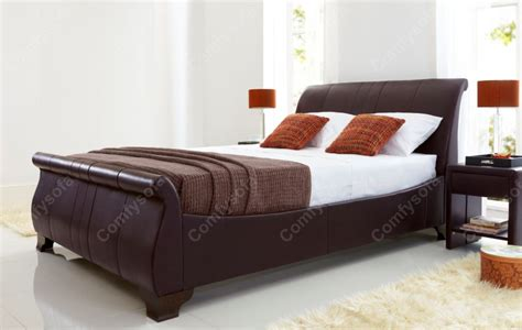 Real Leather Bed Frame Real Leather Beds Kaydian Bamburgh Leather Bed Frame Click 4 Beds