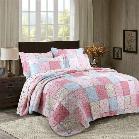 Cotton Patchwork Quilts - chausub korea cotton patchwork quilt set 3pcs floral