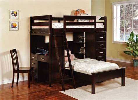 bunk beds with desk and storage bedroom designs exotic twin bunk beds brown color with desk and storage organization