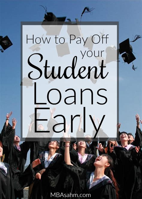 How To Get My Mba Paid For by How To Pay Student Loans Early Mba Sahm