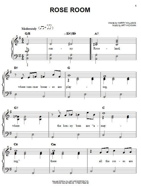 Room Score Room Sheet By Benny Goodman Easy Piano 27209