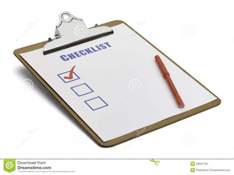 Clipboard Checklist Royalty Free Stock Photo   Image: 28947755