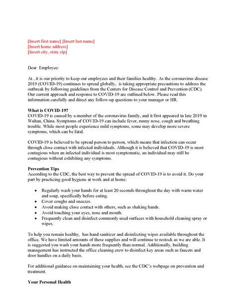 Coronavirus Employee Letter_Page_1 - MyHRConcierge