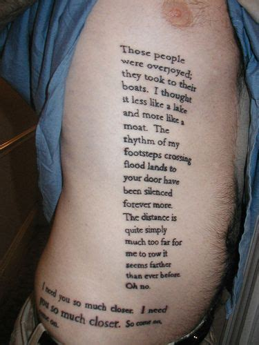 song lyric tattoos paroles de transatlanticism tattoos lyric