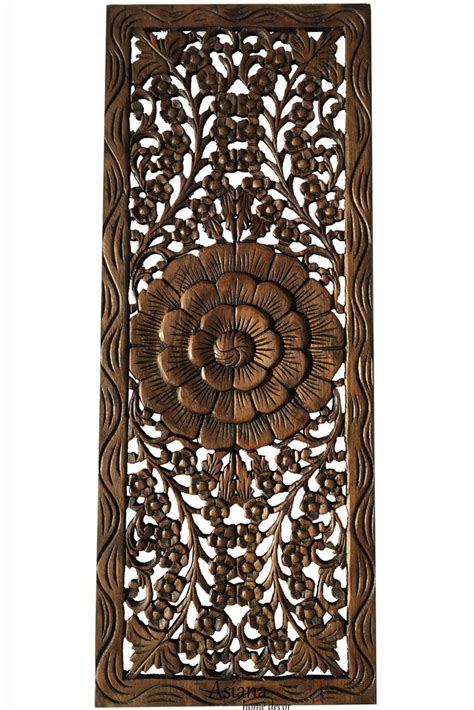 floral wood carved wall panel wall hanging wall relief p asiana home decor