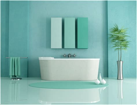 Bathrooms Designed With Serene Aqua Tones