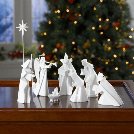 Porcelain Origami Nativity Set - porcelain origami nativity and other sets olivewood