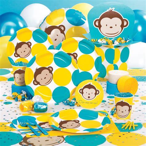 Monkey Birthday Decorations by Mod Monkey 1st Birthday Cake