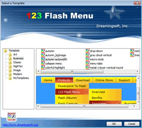 flash menu templates digital world