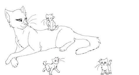 warrior cats queen warrior cat coloring pages