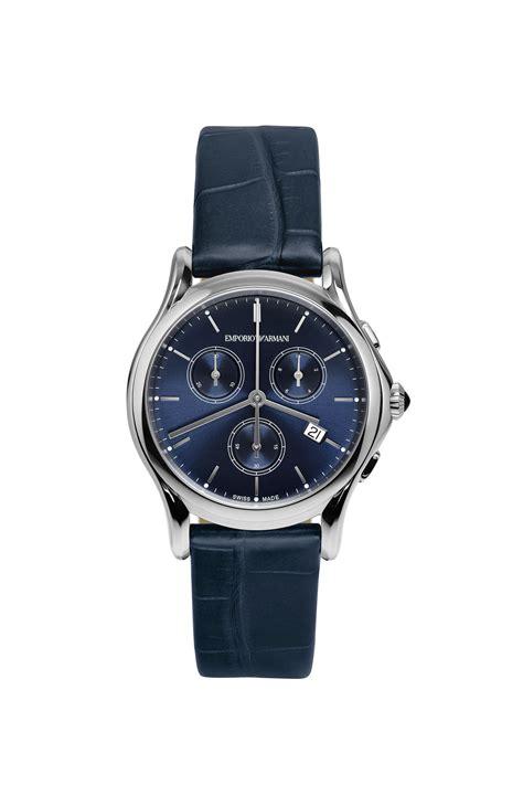 Emporio Armani 2 emporio armani swiss made collection in blue blue lyst