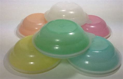 Tupperware Blossom Saucy Dish 6 vintage tupperware pastel mini cereal berry bowls 154 sauce dishes w lids tupperware mid