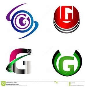 letter g logo template design vector set stock