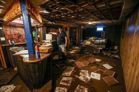 burlington residents start mopping up after flash floods