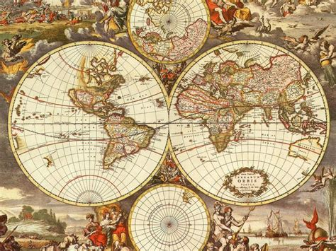Decoupage Map - mi baul decoupage reloges brujulas y mapas