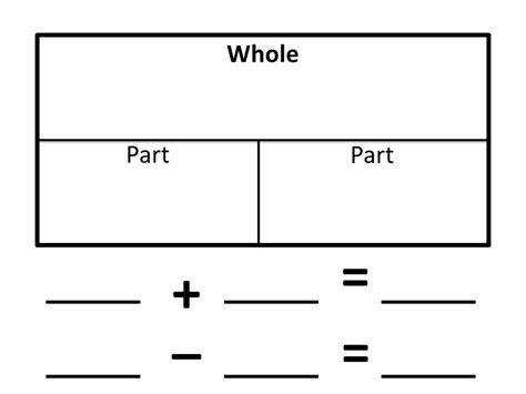 Part Part Whole Mat by Multi Grade Matters Ideas For A Split Class May Calendar