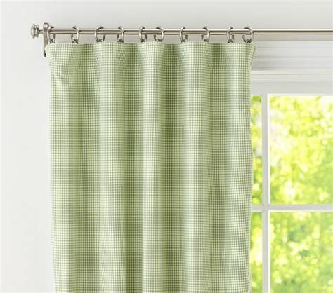 pb kids curtains gingham panel with blackout liner pottery barn kids