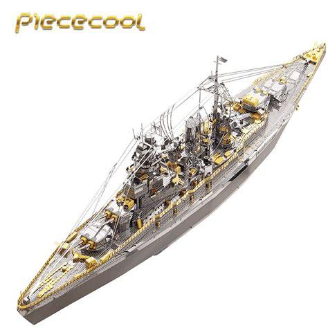 Model Kit 3d Metal Puzzle Uss Arizona piececool 3d metal puzzle class battleship warship model kits p091 sg diy 3d laser cut toys