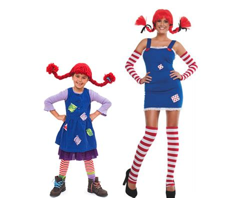 vestiti di carnevale per bambini fatti in casa costume di pippi calzelunghe fatto in casa