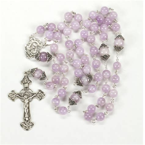 Handcrafted Rosaries - kunzite rosary rosaries and chaplets by sue