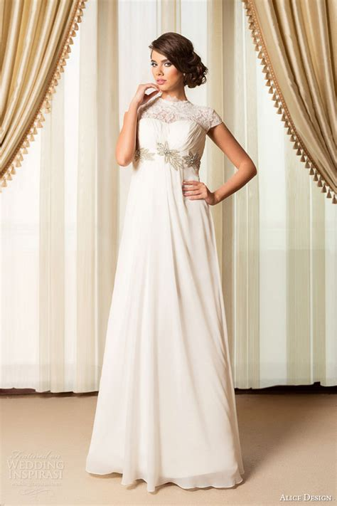 Wedding Dresses Empire Waist by Empire Waist Wedding Dress With Sleeves Www Pixshark