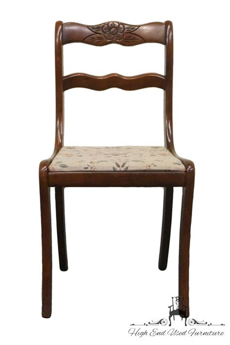 Pennsylvania House Dining Room Chairs by High End Used Furniture Tell City Duncan Phyfe Rose Back
