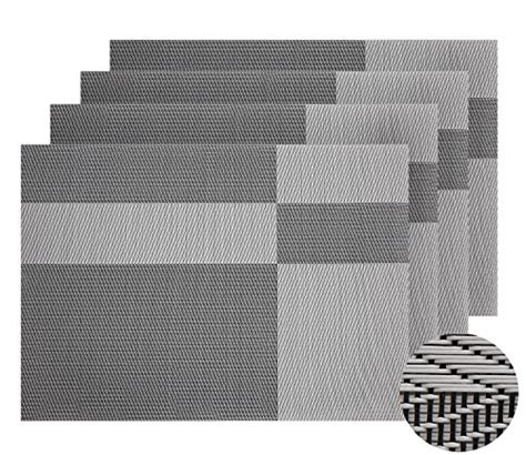 Black And White Table Mats by Save 54 Deconovo Pvc Placemats Heat Resistant