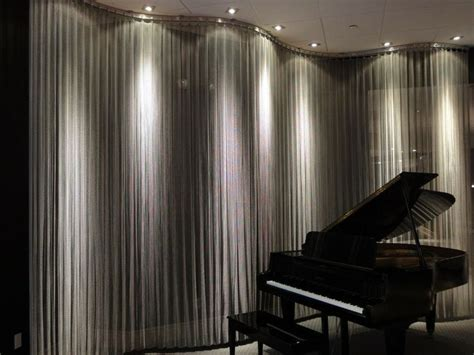 metal mesh drapery metal mesh curtain with lighting metal mesh perforated