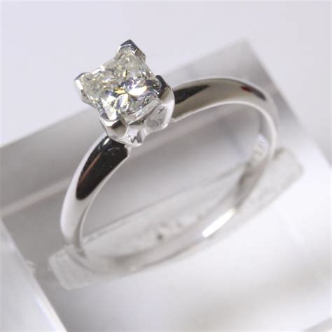 Things To Learn About Diamonds From Loosediamondsreviews by 14kt White Gold 1 9g Princess Cut Solitaire