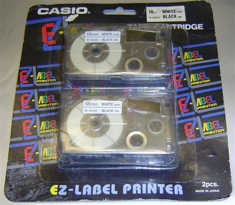 Casio Ez Label Printer White Black Ink 18 Mm Yellow Line Xr 18 T W Y 2 casio ez label ir 18we 18mm white blk ink sale help comments reviews