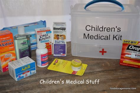 aid kit medicine contents how to make a children s aid kit food storage