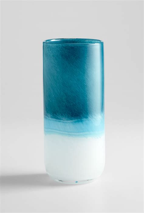 Blue Glass For Vases by Medium Cloud Blue Glass Vase By Cyan Design