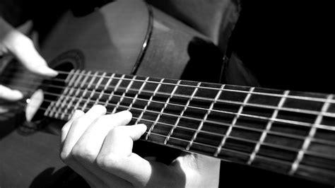 guitar wallpaper black and white hd guitar wallpaper classical guitar playing acoustic hands