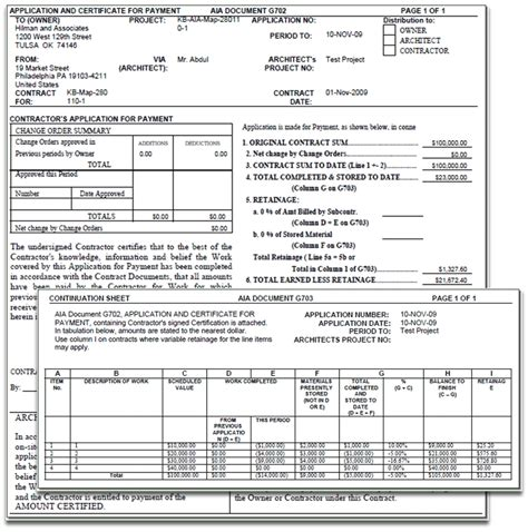 Aia Format Invoice Invoice Template Ideas Aia Contract Template