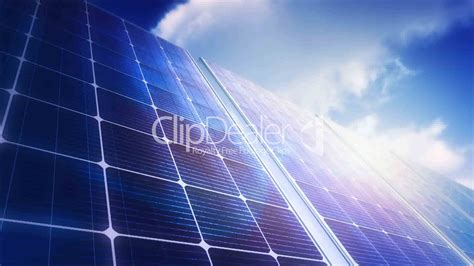 solar panels sky panorama loop royalty free and
