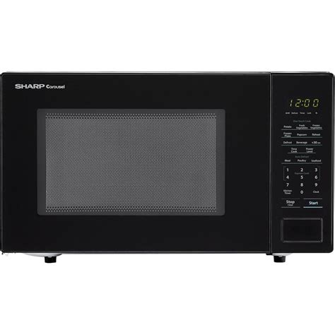Sharp Microwaves Countertop by Sharp Carousel 1 1 Cu Ft Countertop Microwave In Black