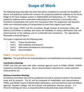 construction project scope of work template free scope of work templates word excel pdf formats