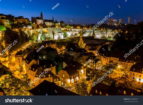 Lu City Z luxembourg city sunset top view luxembourg stock f 233 nyk 233 p