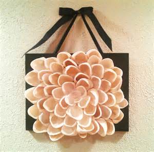 Lotus Flower Decor Seashell Wall Decor Lotus Flower Wall