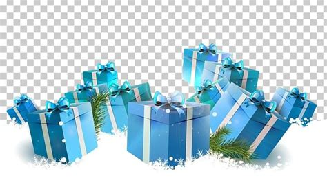 christmas card gift box png clipart  december background blue box box  png