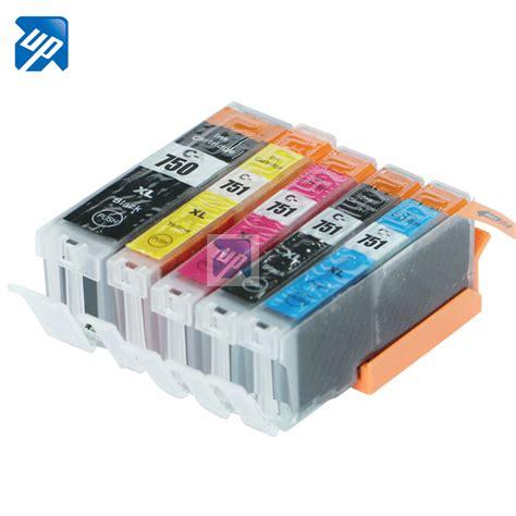 Cartridge Canon Ip7270 5pcs pgi 750 cli 751 compatible ink cartridge for canon