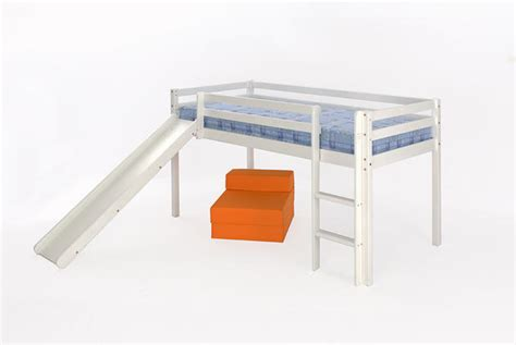 White Metal Mid Sleeper by 3ft Mid Sleeper White Single Free Delivery Slide Option