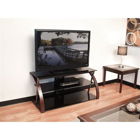 wide tv stand 48 wide tv stand in black bwntr48