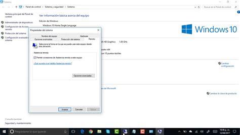 escritorio remoto windows 10 habilitar escritorio remoto en windows 10 youtube