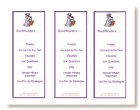 printable good reader bookmarks teacher s printables good readers strategies bookmark