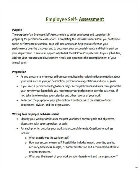 Appraisal Introduction Letter sle self assessment compatible print employee performance marevinho