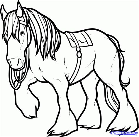 image gallery horse drawings to colour horse coloring pages how to draw angus angus the horse