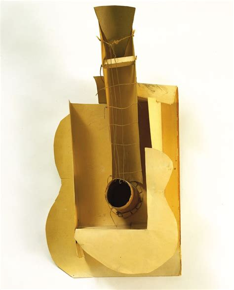 picasso paintings with guitar pablo picasso maquette for guitar 1912 cubism still