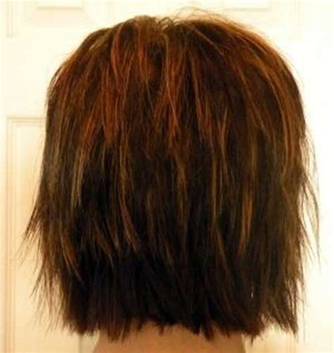 bob layered hairstyles front and back view view of front and back of layered bob hairstyles short