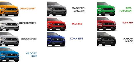 2019 Ford Mustang Colors by 2019 Ford Mustang Colors You Need To Hacienda Ford